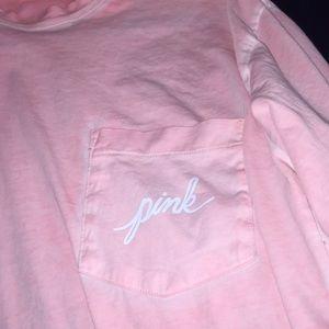 PINK tye dye long sleeve light pink shirt